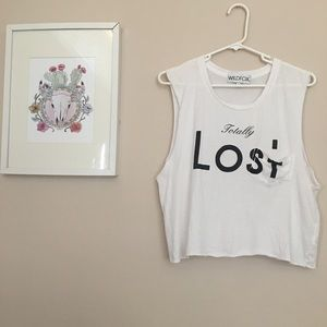 Sale 🌸 WILDFOX Totally Lost Print Top